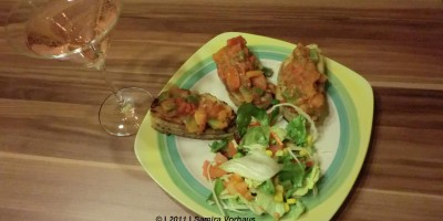 Bruschetta auf Ciabatta mit Salatkreation