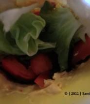 Pita-Taschen mit Gemüse-/ Salatfüllung