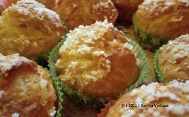 frisch gebackene Laugen Muffins