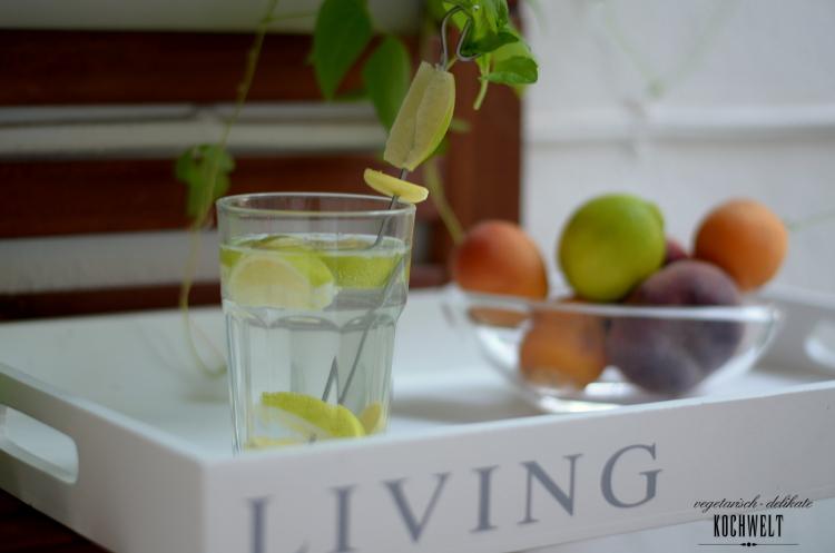 Limtten-Ingwer-Wasser