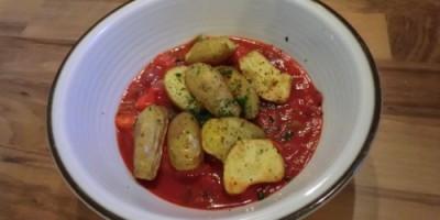 Ofenkartoffeln mit Paprikagemüse
