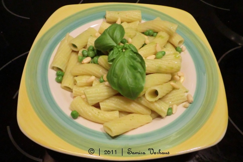 Pesto auf Pasta