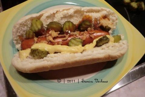 Vegetarischer Hot-Dog