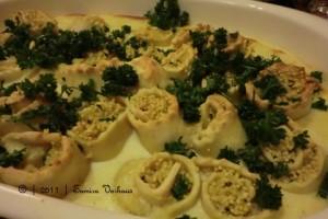 Nudelröllchen mit Zucchini-Hirse-Füllung