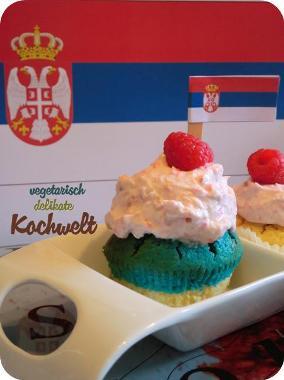 Serbien Cupcake EM 2012