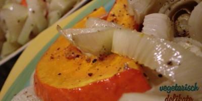Herbst-Ofengemüse auf dem Teller