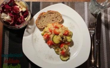 Risotto mit Zucchini und Kirschtomaten