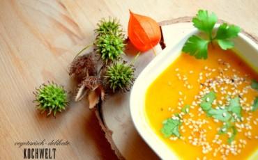 Asiatische Kürbissuppe