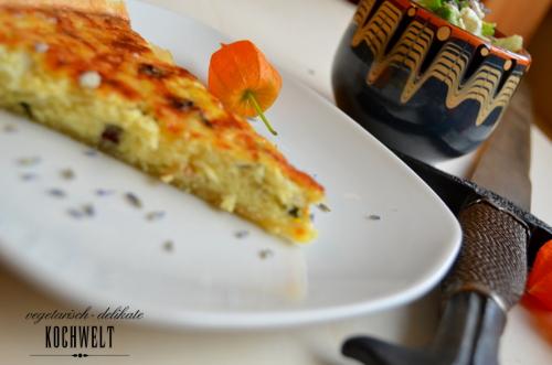 mittelalterliche Käse-Zwiebel-Torte