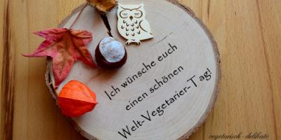 Welt-Vegetarier-Tag mit logo