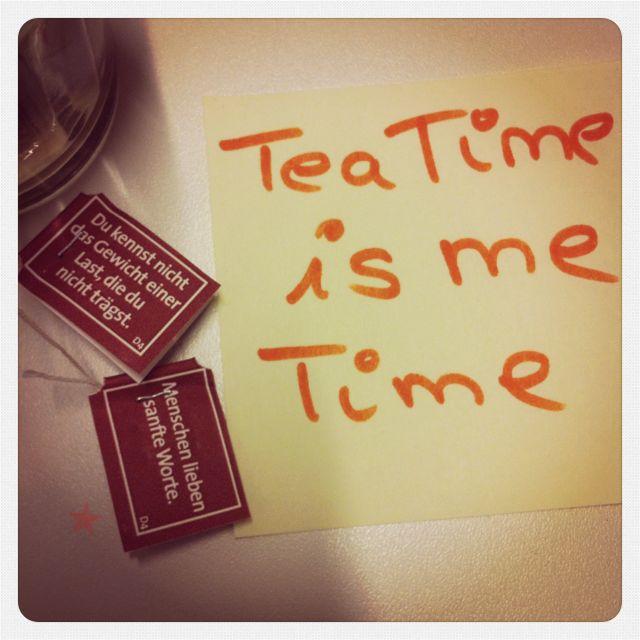 Tea Time is me Time - passend zum Beitrag vom Montag