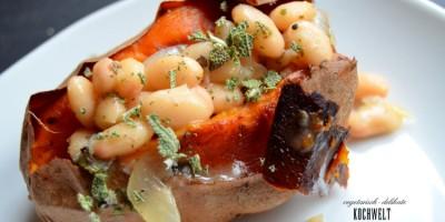Toskana-Bohnen mit Süßkartoffeln