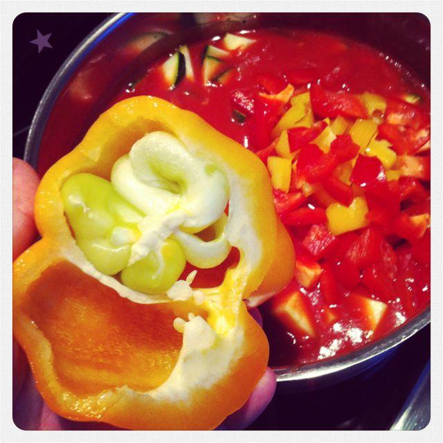 Paprika mit Zwillingen
