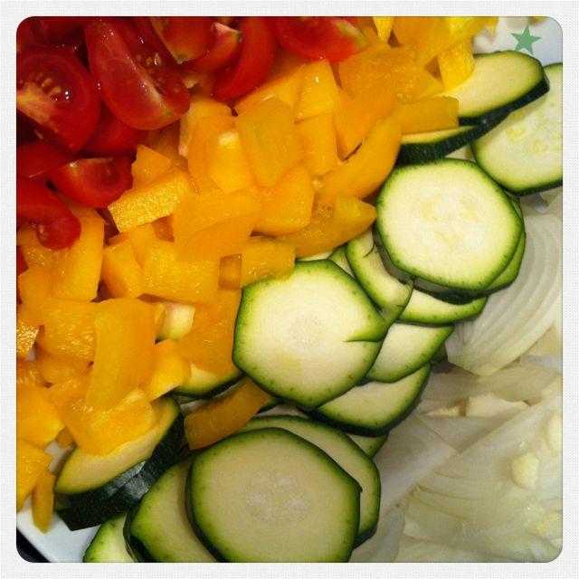 Vegetarisches Essen sollte immer bunt sein, sagen mir meine Kochbücher immer :-)