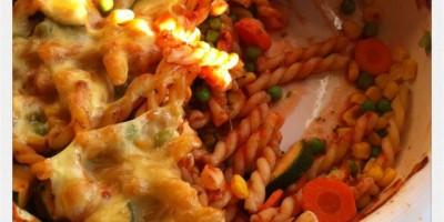 köstlicher Gemüse-Nudel-Auflauf