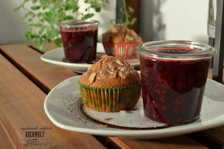 Nachtisch - Muffins mit Schwarzteebeeren