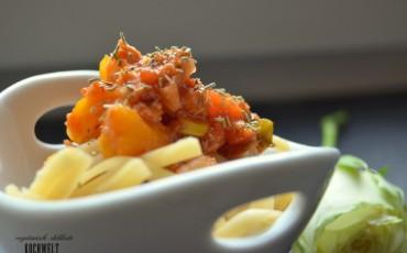 Spaghetti Gemüse-Bolognese (Vegan)