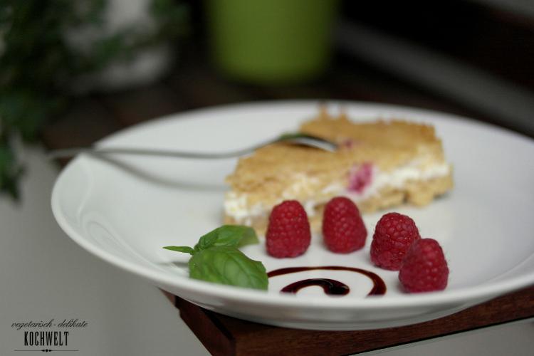 Himbeer-Basilikum-Couscous-Käsekuchen
