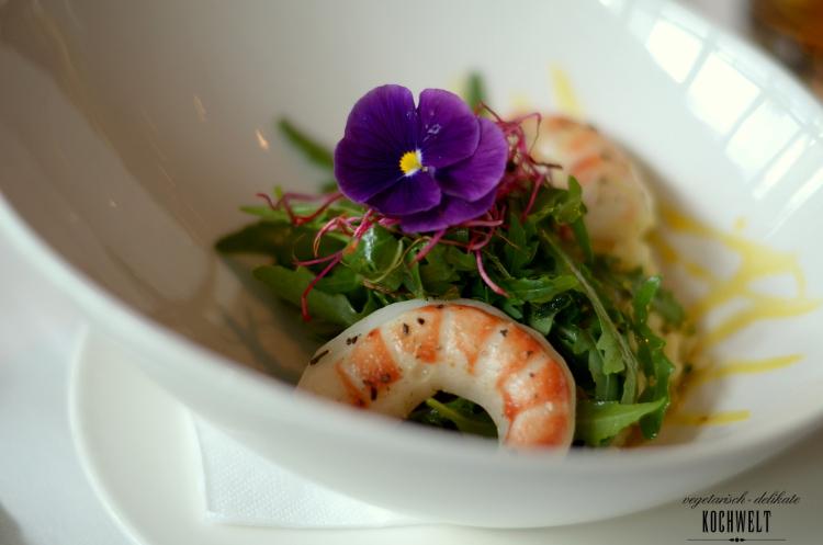 Hauptspeise - Mangorisotto mit veganen Garnelen