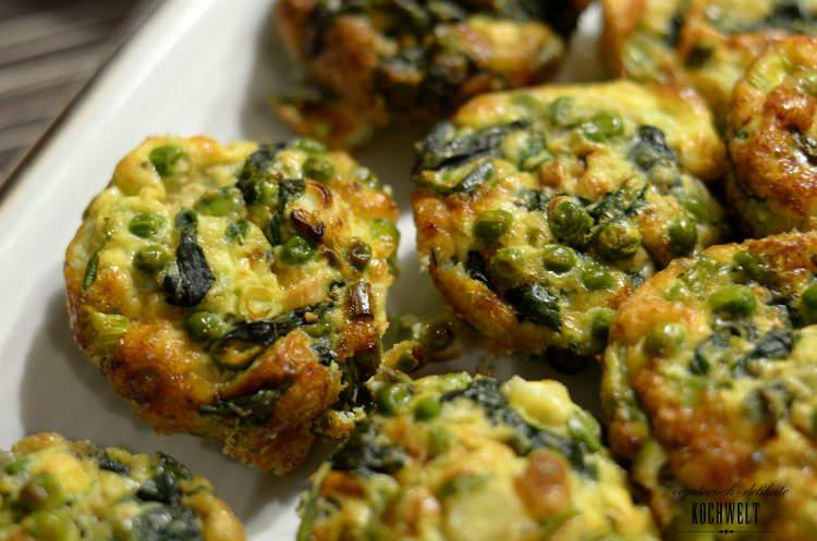 Frittata mit Spinat und Erbsen I