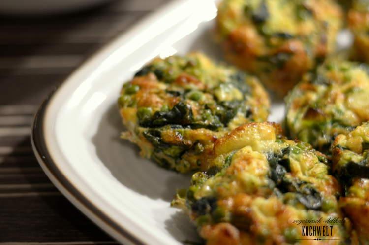 Frittata mit Spinat und Erbsen II