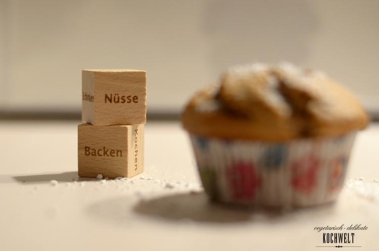 Schokoladen-Joghurt-Muffins mit halbflüssigen Nougatkern