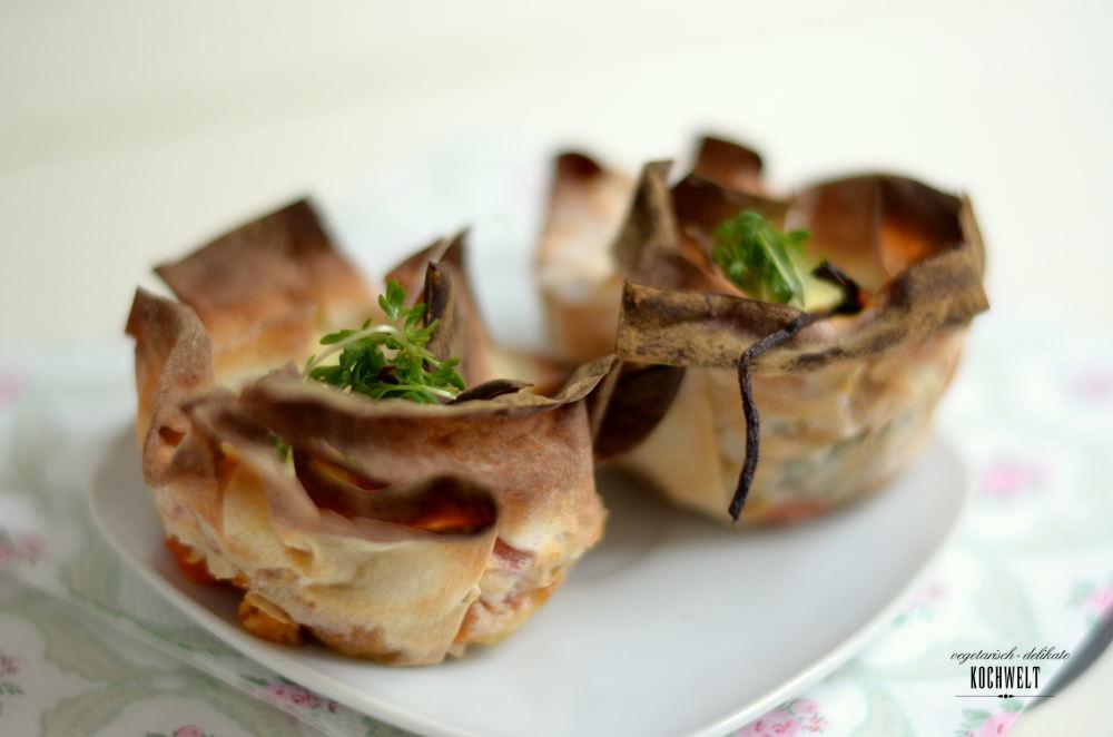 Spinat-Quiche mit Filoteig
