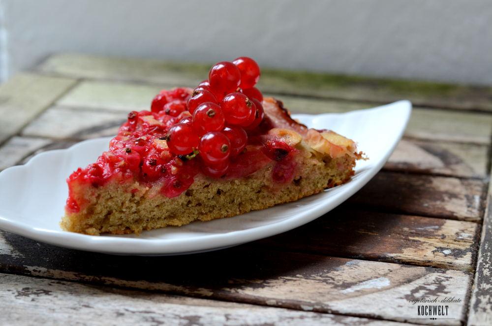Johannisbeer-Pfirisch-Kuchen