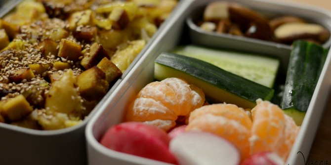 Lunchbox-Idee: Wirsing-Pfanne mit Schupfnudeln und gebratenem Tofu