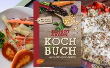 Schrot und Korn Kochbuch - vegetarisch, vegan, saisonal, mit logo