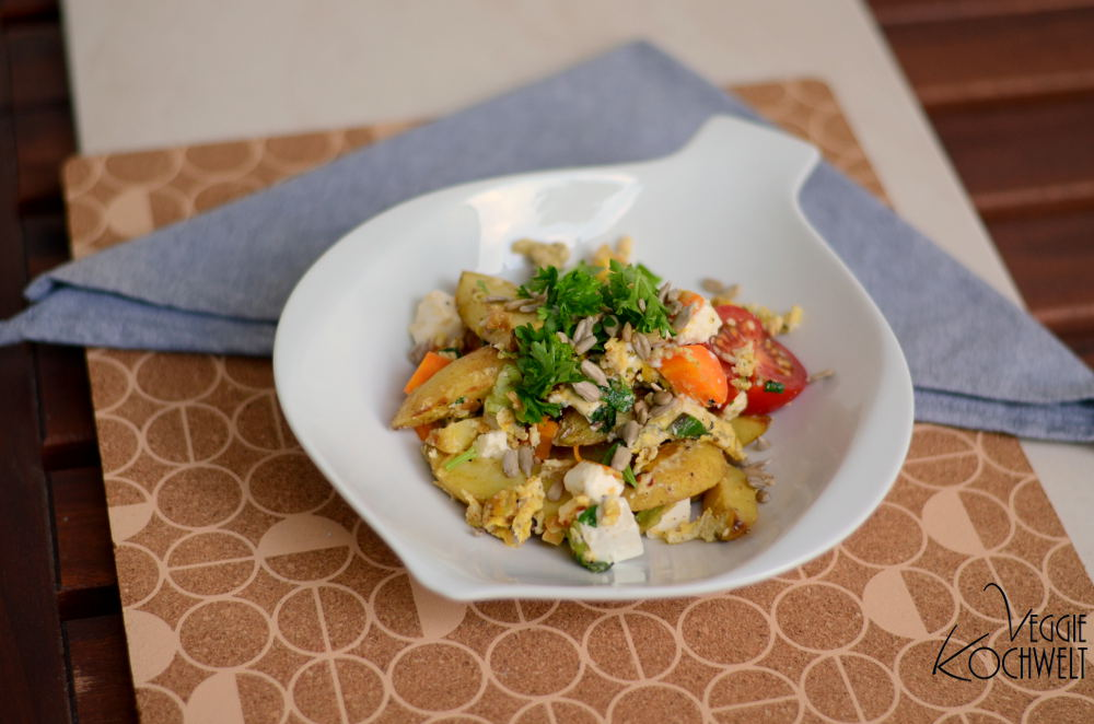 Herzhafte Bratkartoffelpfanne mit Gemüse