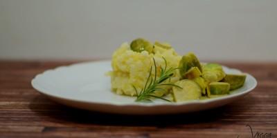 Blumenkartoffelstampf mit fruchtigem Rosenkohl