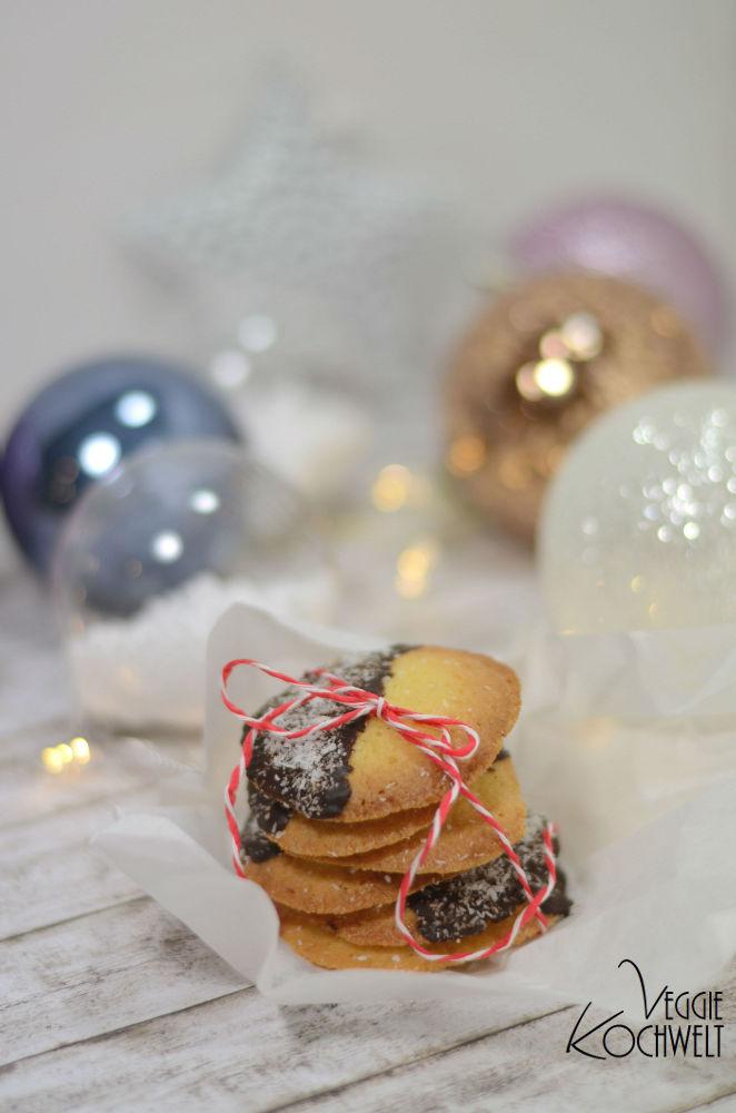 Orangen-Biskuits mit Schoko und Kokos