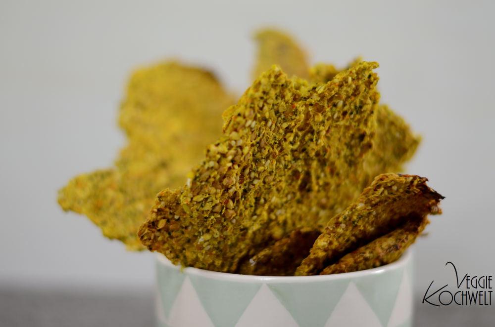 basische Curcuma-Samen-Cracker