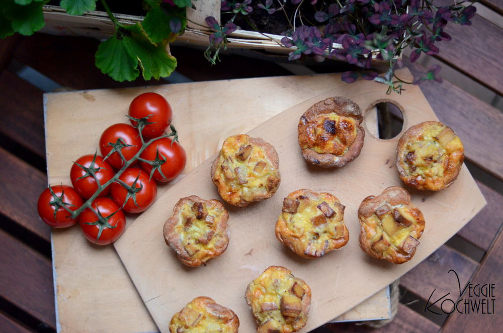Zwiebelkuchen-Muffins