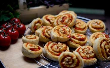 pikante Pizza-Schnecken