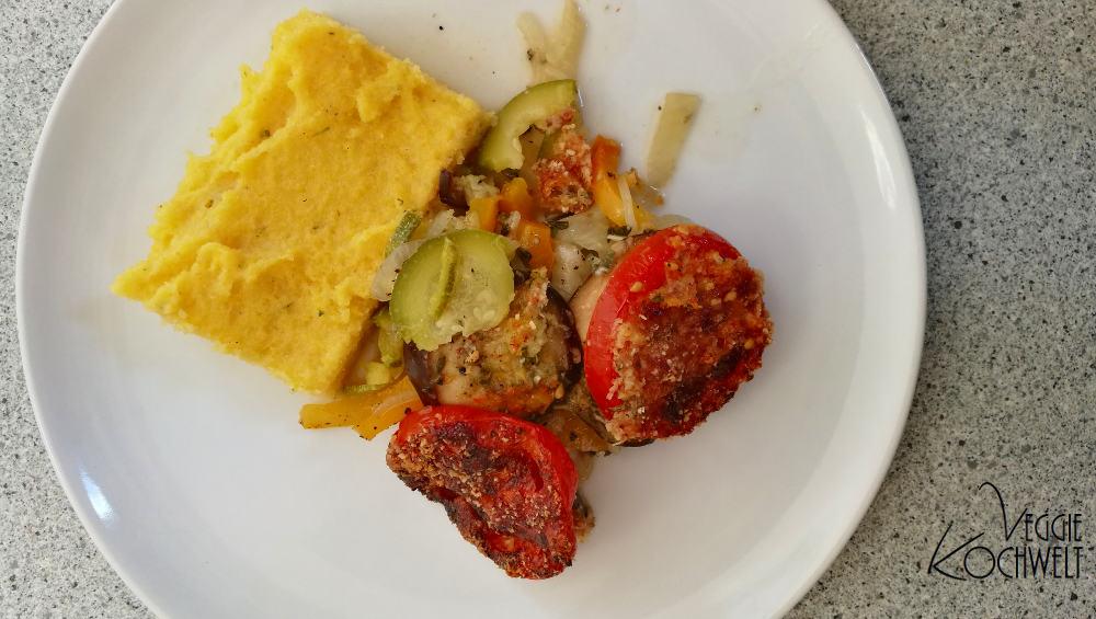 Gemüseauflauf mit Polentaschnitten - Kochbuch  - Mediterrane Küche – Genuss und Chance für Ihr Herz