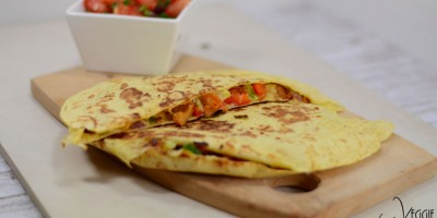 Gemüse-Quesadilla mit Tomaten-Salsa