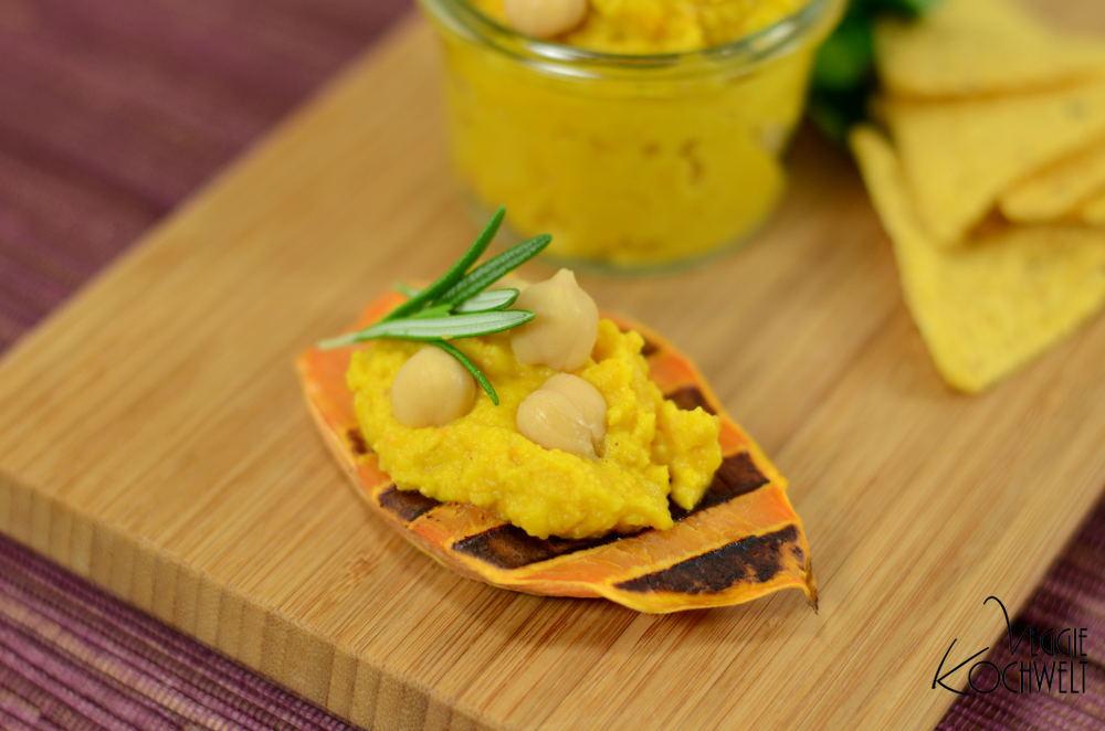 Kürbis-Hummus - Kürbis-Kichererbsen-Aufstrich