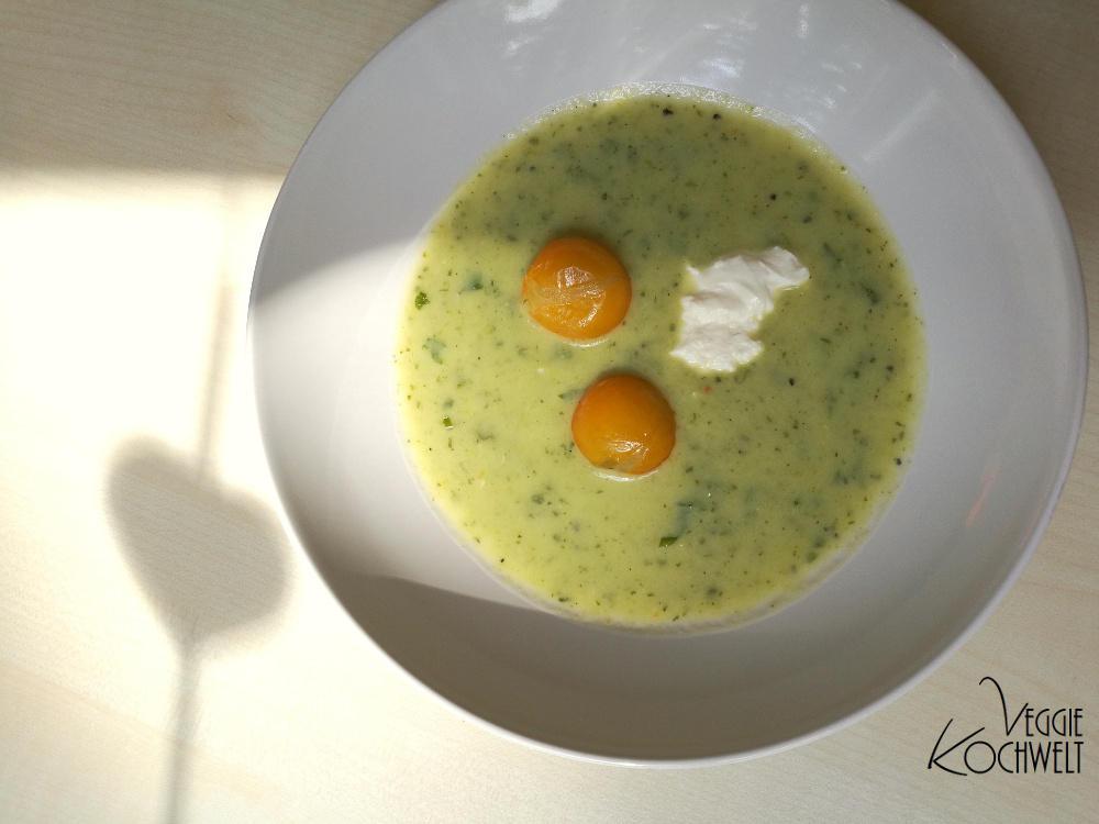 Zucchini-Creme-Suppe - Kochbuch  - Mediterrane Küche – Genuss und Chance für Ihr Herz